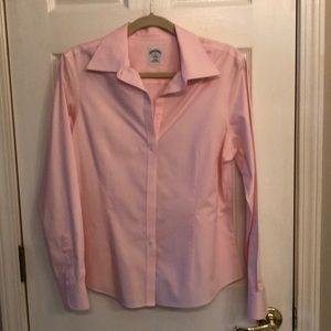 Brooks Brothers pink blouse